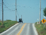 amish on road